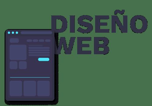 Icono de diseño web con tipografía