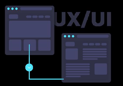 Icono representativo de un wireframe en ux ui